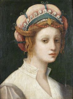 Attributed to Domenico Puligo (Florence 1492-1527) Portrait of a lady 8b483bfeb38