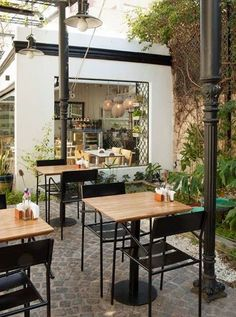 I want to sit here for hours, with friends and food floating by Pehache Café…