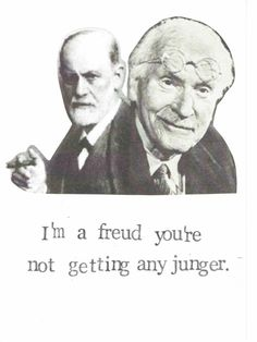 Freud Jung Birthday Card Funny Psychology Happy Birthday Nerdy Pun Psychoanalysis Humor Counsellor Counselling Therapist Aging Older