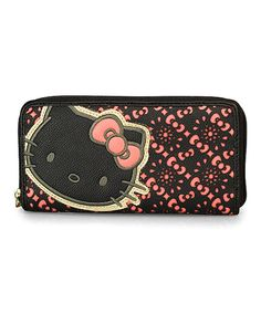 Pink & Black Bows Laser-Cut Hello Kitty Wallet   Something special every day