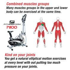 Elliptical Trainer - kind on joints Elliptical Trainer, Cross Trainer, Muscle Groups, Trainers, Exercise, Muscles, Fitness, Tennis, Ejercicio