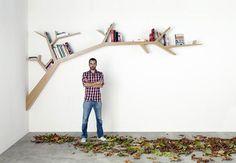Library Tree Branch   20 Brilliant Bookshelves