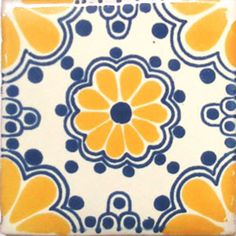 Details about C#020) MEXICAN TILE CERAMIC TALAVERA MEXICO HAND ...