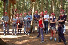 Forestia, een leuk klimparcours in het avonturenpark, op 25 km afstand van Vakantiehuis Auberge Le Barrage