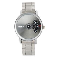$5.03 (Buy here: https://alitems.com/g/1e8d114494ebda23ff8b16525dc3e8/?i=5&ulp=https%3A%2F%2Fwww.aliexpress.com%2Fitem%2F2017-New-fashion-Stainless-Steel-Silver-Band-Paidu-Men-Business-Casual-Quartz-Wrist-Watch-Black%2F32792302006.html ) 2017 New fashion Stainless Steel Silver Band Paidu Men Business Casual Quartz Wrist Watch Black Turntable Dial Men's Relogio  for just $5.03