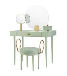 Maison et Objet Selection by Geraldine Tan - The biggest European event for professionals working in the art of living is almost here. Table Furniture, Furniture Design, Modern Furniture, Ecole Design, Desk Stool, Vanity Desk, Console, Elle Decor, Colorful Interiors