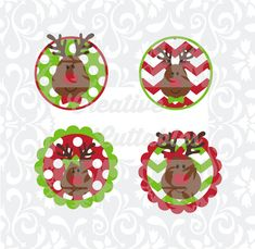 Christmas Reindeer SVG designs for  Silhouette or other craft cutters (.svg/.dxf/.eps)