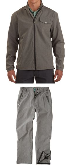 Coats and Jackets 181134: Linksoul Men S Sz L Gray Full Zip Rain Suit Gray -> BUY IT NOW ONLY: $124.96 on eBay!