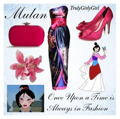 """Disney Style: Mulan"" by trulygirlygirl ❤ liked on Polyvore featuring Miss KG, Lulu Townsend, country, mulan and disney"