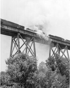 Train wreck and fire at Saluda River Trestle Bridge  by Pickens County Library System, via Flickr