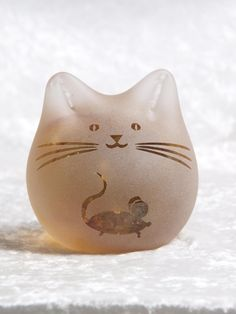 Mouse Cat by GlassCatsStudios on Etsy, $88.00