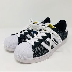 buy online 65c31 63611 adidas Shoes   Adidas Camo Knit Superstar Sneakers   Color  Black White    Size  6g