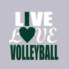 Volleyball TShirt - Live Love Volleyball Shirt - Custom - I Love Volleyball - School Team Spirit T-S Volleyball Shirts, Volleyball Mom, Volleyball Quotes, Softball Hair, Softball Stuff, Volleyball Drills, Girls Basketball, Girls Softball, Volleyball Players