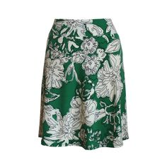 """Travel Skirt in Spring Green, Cream and Black Abstract Floral Print, """"Esprit"""" Skirt by Melanie Grace designs"""