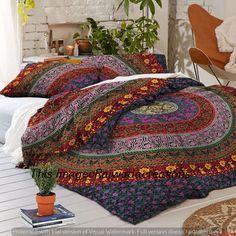 Reversible Bohemian Indian Mandala Cotton Hippie Boho King Size Duvet Cover Art #Handmade #Traditional