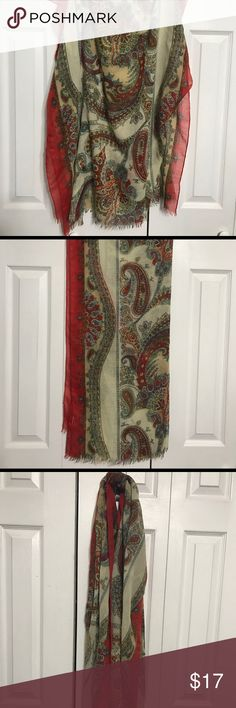 Paisley Van Heusen Scarf Beautiful Van Heusen scarf that looks lovely layered with a black dress or makes a perfect accent to a solid sweater. This has always been one of my favorites! Van Heusen Accessories Scarves & Wraps