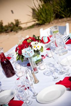 4th of july wedding centerpiece ideas