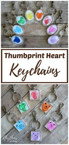 A fingerprint or thumbprint keychain is a unique handmade craft and gift idea even kids can make. Use this easy fingerprint heart keychain tutorial to make one of a kind fingerprint keychain pendants your family will treasure. Perfect keepsake craft for Valentine's Day, Mother's Day, Father's Day, Christmas, and summer camp!