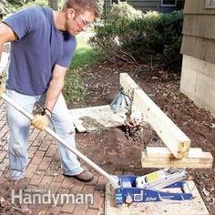 Remove shrub roots with a jack and lever assembly...and save hours of digging - yea!