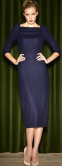 navy office style ♥✤   Keep the Glamour   BeStayBeautiful