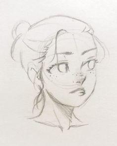 Art Drawings Sketches Simple, Pencil Art Drawings, Cool Drawings, Drawing Tips, Drawing Drawing, Drawing Ideas, Drawing Techniques, Drawing Hair, Paper Drawing