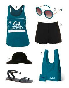 Kappa Kappa Gamma California Tank  | Sorority Apparel | www.adamblockdesign.com | Email us at orders@adamblockdesign.com for more info!