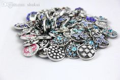 Wholesale cheap  online, bracelets type - Find best wholesale-wholesale mix metal high quality crystal 18mm rhinestone snap button charms fit snap button bracelet jewelry at discount prices from Chinese id, identification supplier - shukui on DHgate.com.
