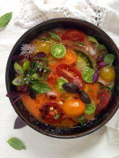Heirloom Tomato Gazpacho Recipe  CiaoFlorentina.com