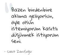 #siirsokakta Cahit Zarifoğlu
