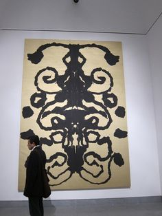 Andy Warhol's Rorschach Painting, 1984 Hermann Rorschach, the Swiss psychiatrist invented the inkblot test. Synthetic polymer paint and silkscreen ink on canvas 90 x 70 inches (228.6 x 177.8 cm)