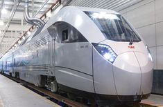 CAF and Saudi Railway Company (SAR) testing the next generation of push-pull trains for Saudi Arabia's North-South line