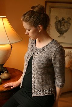 Asteria Cardigan by the yarniad, pattern from Ravelry, uses bulky yarn. Knit from the bottom up in one piece