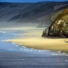 Perranporth, Cornwall This looks very peaceful and tranquil - we bet there is a good surf out there. Beaches close to home. Devon And Cornwall, North Cornwall, England And Scotland, English Countryside, British Isles, Beautiful Beaches, Wonders Of The World, Places To See, Scenery
