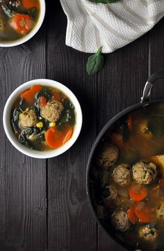 Savory Albondigas (Meatball) Soup by nogojisnoglory A healthy yet flavorful Mexican soup. A perfect dinner or lunch for those chilly Fall & Winter days.  #Soup #Mexican #Meatball