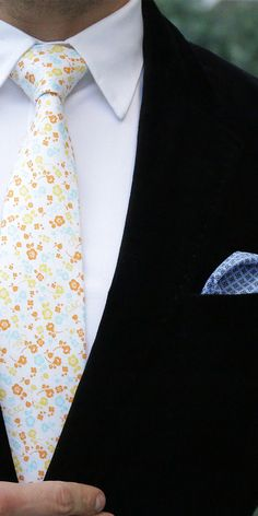 Spring ready in LORD WALLINGTON new arrivals #OOTD http://lordwallington.com/product/white-floral-tie/
