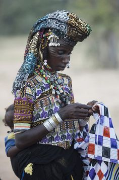Woodabe woman at Gerewol in Chad 2016