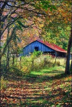 Good looking old barn in the countryside . Country Barns, Country Life, Country Roads, Country Living, Country Charm, Farm Barn, Old Farm, Barn Pictures, Country Scenes