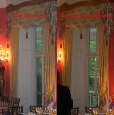 On left, a man in a 3 cornered hat, seconds later on right, nothing.  Aiken-Rhett House    Charleston, South Carolina
