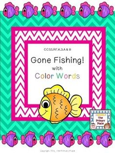 The Gone Fishing with Color Words Center Game created by The Primary Place is ideal for Pre-K - 1st grade. There are 14 pages in this PDF file. You can make this a center or create enough for the class to do this activity at the same time in small groups.