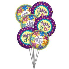 You Are In My Mind 6 Mylar Balloons I Am Always Thinking For