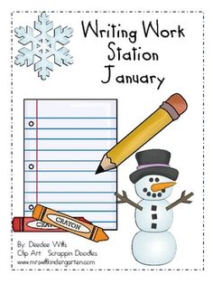 Help your students work independently with this January (winter) themed writing work station or writing center. It includes:*28 vocabulary card...