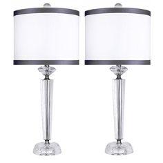 "Found it at Wayfair - Genuine Crystal 25.75"" Table Lamp (Set of 2)"