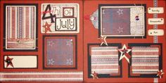 The Avid Scrapper: 4th of July Scrapbook Pages