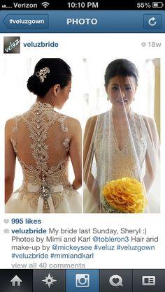 From Veluz  bridal (: love her dresses !