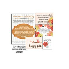 Items similar to September 2016 Visiting Teaching Message- Parenthood is a Sacred Duty- Digital printable bundle on Etsy Relief Society Handouts, Visiting Teaching Message, Teaching Ideas, Encouragement, September, Printables, Messages, Digital, Etsy