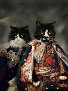 Cats in historic art. I'd love to see something like this in the art museum. ;)