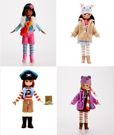 Dolls for 9yr olds.  No make-up, boobs or heels. Lottie dolls.
