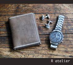 $38   Minimalist Leather Bifold Wallet #minimalistwallet #leatherwallet #gifts