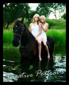 Twin Sisters and Horse Photography Session