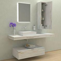 Mensole per bagno - Mensole lavabo in legno massello su misura ...